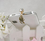 Fashion Delicate Spider Shape Alloy Diamante Anti-dust Plug for Universal Mobile Phone