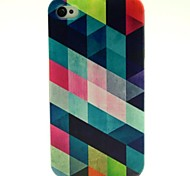 Diamond Pattern TPU Soft Cover for iPhone 4/4S
