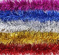 80 * 4inch cinta multicolor navidad, de plástico