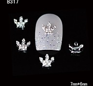 10pcs Beauty Crown 3D Rhinestone Alloy Nail Design DIY Nail Art Decoration