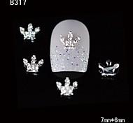 10pcs bellezza corona 3d nail design della lega del rhinestone diy chiodo decorazione di arte