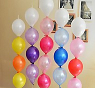 100 Pcs 10 Inch 2.3 Grams Wedding Party Celebration With Needle Tail Balloon(Colors Random)