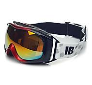 HB Black & Red Frame Double Lens Anti UV Snow Googgles
