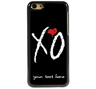 Personalized Phone Case - X O Design Metal Case for iPhone 5C