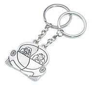 Personalized Engraving Drove Lovers Metal Couple Keychain