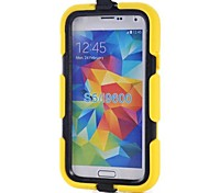 Waterproof Tough Defender Series Rugged Impact Back Cover with Detachable Clip  for Galaxy S5(Assorted Colors)