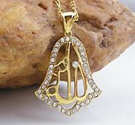 18k de ouro chapeado pingente allah muçulmano