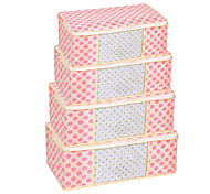 Pink Dot Visiable Foldable Clothes Storage Box(Small 45x25x15 cm)