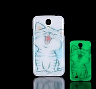 Cat Pattern Glow in the Dark Hard Case for Samsung Galaxy S4 Mini I9190