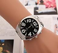 relógio de forma lazer suíço correia de aço escala dupla das mulheres (cores sortidas)