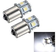 Merdia 1.5W 45LM 1156 8x5050SMD LED White Light Brake Light / Reversing Lamp/Turn Signal Light(2 PCS/24V)