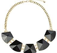 promotions de géométrie collier de chaîne en métal