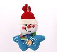arbre de Noël décoration de bonhomme de neige en peluche