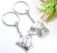 Personalized Engraving Cup Metal Couple Keychain