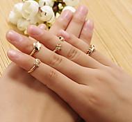 Girl's  Heart Ring Set