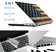 Hat-Prince 3 in 1 Protective Case with TPU Keyboard Film and Anti-dust Plugs for MacBook Pro with Retina Display