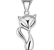 Women's Lovely Fox Print Necklace