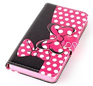 Pink Bowknot Buckle Pattern PU Leather Case with Screen Protector,Stylus, Dust Plug and Stand for Sony Xperia Z3 L55T