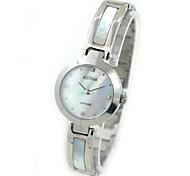 Women's Shell Design Waterproof Steel Bracelet Quartz Watch