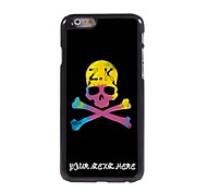 Personalized Phone Case - Unique Skull Design Metal Case for iPhone 6