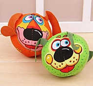 Puppy Face Shaped Canvas Chew Toys for Pet Dogs(Random Colour)