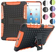 Zwei-in-one Reifenkornentwurf PC und Silikonhülle mit Ständer für iPad Mini 1/2/3 (verschiedene Farben)