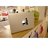 SKINAT Removable DIY cute push the logo with the vehicle laptop sticker for you tablet computer and macbook air 10*10