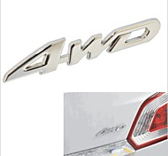 4WD Style 3D Chromium Alloy Car Body Decoration Sticker