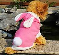 Lovely Rabbit Costume With Hoodie For Pet Dogs(Assorted Colours And Sizes)