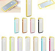 DIY Yellow Color and Solid Color Combination Design Bumper Frame Case for iPhone 6 (Assorted Colors)