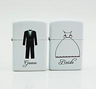 briquets de pétrole blancs personnalisés - marié mariée