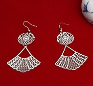 Fashion New Fan Drop Earrings Random Color