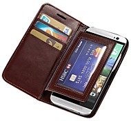 Durable PU Leather Full Body Case with Card Slots for HTC ONE 2 M8 (Assorted Colors)