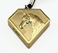 Personalized Engraving Horse Gold Metal Electronic Lighter