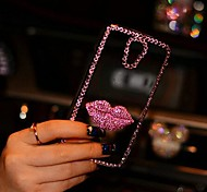 Vermilion Border Rhinestone Pattern TPU Back Cover with Border for Samsung Galaxy Note 2 N7100(Assorted Colors)