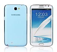 color sólido caso transparente ultrafino caso esmerilado duro para Samsung N7100 Nota 2 (colores surtidos)