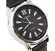 Men's Round Dial PU Band Fashion Quartz  Watch (Assorted Colors)