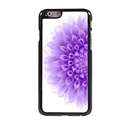 Half of The Purple Flower Design Aluminium Hard Case for iPhone 6