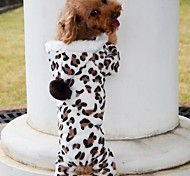 Dog Coat Dog Clothes Pet Apparel - Brown Leopard grain