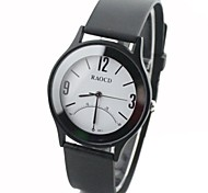 Unisex Round Dial Rubber Band Fashion Quartz Watch (Assorted Colors)