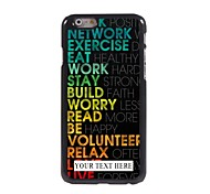 Personalized Phone Case - Colorful Design Metal Case for iPhone 6