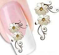 Adesivi simulazione fiori Nail design 3d 5pcs moda