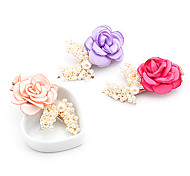 1pc Rose and Pearls Barrette(Random Color)
