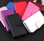 DF® Smooth Face Pattern PU Leather Full Body Case for iPhone 4/4S(Assorted Colors)
