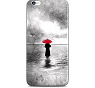 Umbrella Girl in The Sea Pattern Hard Case Cove for iPhone 6