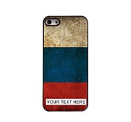Personalized Phone Case - Russian Flag Design Metal Case for iPhone 5/5S
