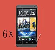 [6-pack] profesional LCD de alta transparencia para una htc (pn07120, htl22, M7 HTC, HTC 801E)