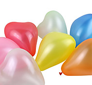 Large Size Thick Pearlized Heart-shaped Balloons(Random Color,100Pcs)