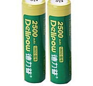 2PCS Delipow 18650 3.7V 2500mAh Nickel-Cadmium Battery