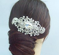 da sposa d'epoca di cristallo del rhinestone della lega del fiore capelli sposa pettine femminile
